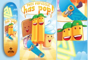 Popsicle Skateboard Design by anggatantama