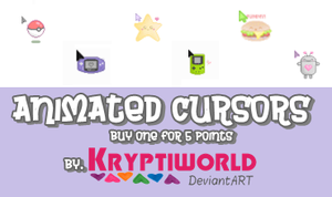 Animated Cursors. by kryptiworld
