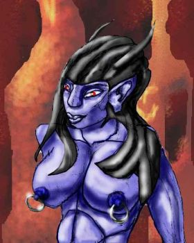 Blue Succubus by sentinel2001