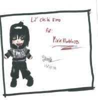 Chibi Emo For:PixieDouble08 by Tabitha-Grace