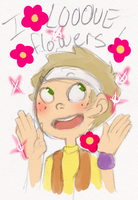 he REALLY likes flower by likethebeer