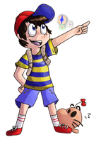 SSB Collab : Ness by lucie45