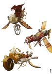 Steampunk vehicles color by Catell-Ruz