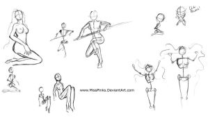 Pose Sheet 2 by MissPinks