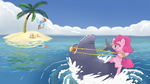 Shark Wrangler: Wallpaper Version! by spicyhamsandwich