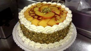 Peaches and Cream Cake by asthetiq