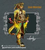 CLOSED Auction: Elemental Warrior The Lion by Hassly