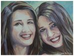 Portrait of Twins detail by PestilentialCreature