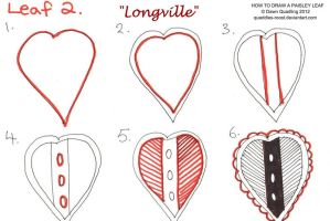 How to draw Paisley Leaf 02 Longville by Quaddles-Roost