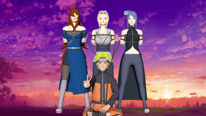Naruto and his brides by the sunset by 4wearemanytoo