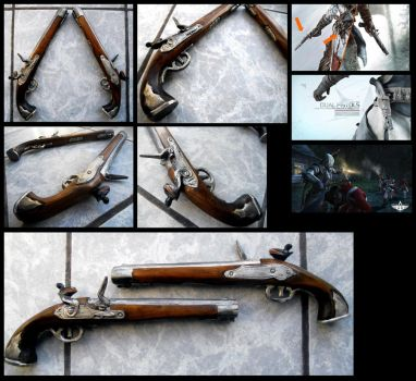 Coonor Kenway - Dual pistols by alsquall
