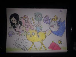 Adventure Time - Full Main Cast by OliviaWhyteART