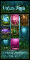 Dreamy Magic backgrounds by moonchild-ljilja