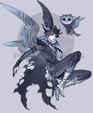 Sooty owl by Polis-adopts
