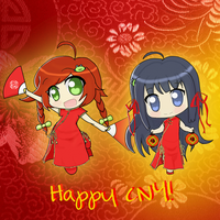 Gift - Shina and Mizuna CNY by Jerikuto