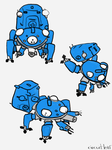 Tachikoma Studies by circuitleaf