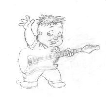 Theo Rockin' out. by ColeJA