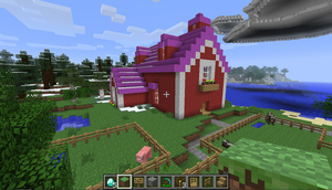 Applejack's barn in Minecraft by SonicRainPwn