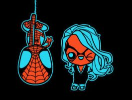 chibi spidey by marisolivier