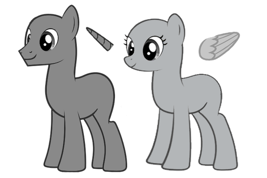 MLP Mare and Colt Base by wptaimuty