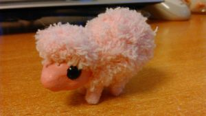 Fluffle Puff Super-Mini Art Doll by judithchen