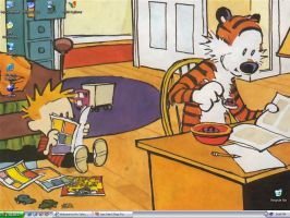 Calvin and Hobbes by michaeltoe