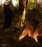 The Hunt is On ~ Bear Rage by BeckoningSilence