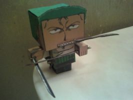 Roronoa Zoro Cubee Finished (Posed) by rubenimus21