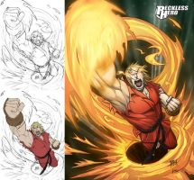 Ken Masters - Street Fighter by RecklessHero