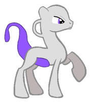 Mewtwo pony Point Adopt (CLOSED) by EnvyXtheXPalmXTree