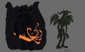 Balrog with and without flames by Mara999