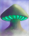 shroom in the mist by NelsonTWaters