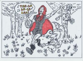 Little Red Riding 'Hod by conradknightsocks
