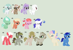 MLP Color Pallete Adoption-OPEN by Iheartmlp237