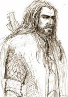 Sketch: Thorin by DaedraDagon