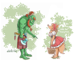 Irish orc and Red hood by Volante-Icaro