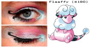 Pokemakeup 180 Flaaffy by nazzara