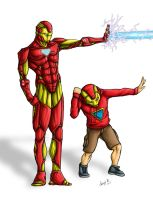 Ironman with a fan by Esdras78
