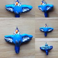 Blue Budgie Charm by Puffinca