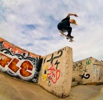 Braydon Szafranski  Fakie flip by Obscurity-Doll
