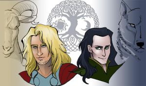 Thor and Loki - The light by theperfectbromance