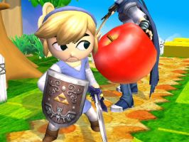 Toon Link Doesn't Leik Apples by xX-3-Kiyuki-3-Xx