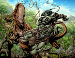 Skaar:King of the Savage Land2 by GURU-eFX