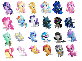 MLP Chibis by PegaSisters82