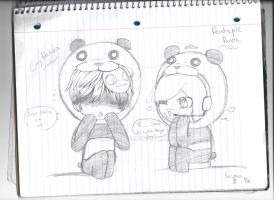 Pewdiepie Panda and Cry Panda by Blackcat34