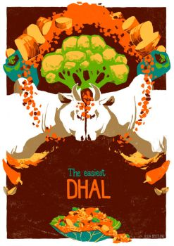Poster with no Animal - Dhal by Gnulia