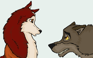 Balto and Jenna by PyroRacoon