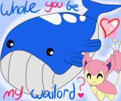 Whale you be my wailord? by astromania