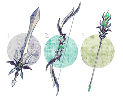 WEAPON ADOPTABLES 1: VERDANT STEEL by CARPFISH
