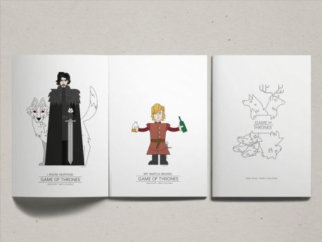 Jon Snow And Tyrion Lannister by james21haydeashyde